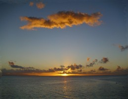Sunset at Huahine (French Polynesia)